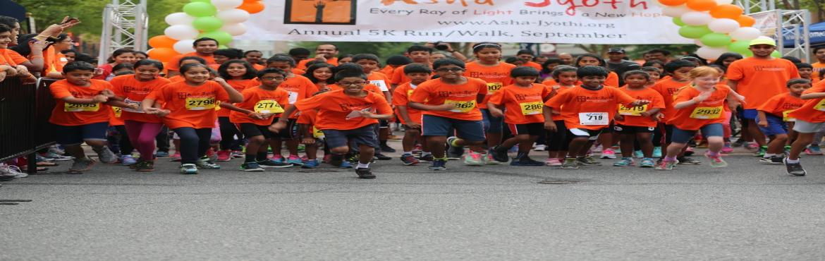 Book Online Tickets for Asha Jyothi 5K run/walk, Hyderabad.  2nd Asha-Jyothi 5K Run/ Walk in Hyderabad Join us in our Second Annual Asha-Jyothi 5K Run/Walk being organized in Hyderabad. Run/walk for a great cause- Register for 1M run/walk or 5K run/walk- Rs. 400 for Adults and Rs.250 for Kids Registration: Yo