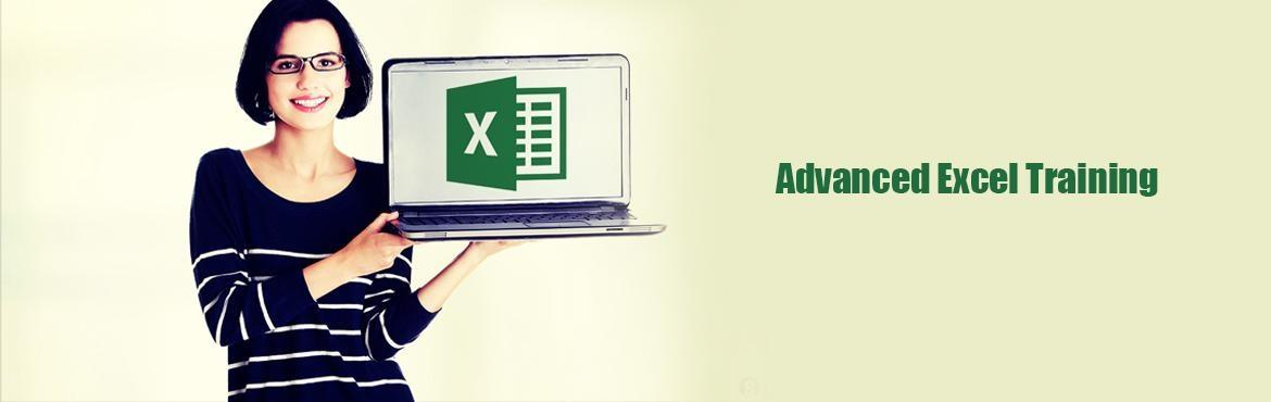 ADVANCED EXCEL Training conducted by professionals for budding career on November 5th 6th