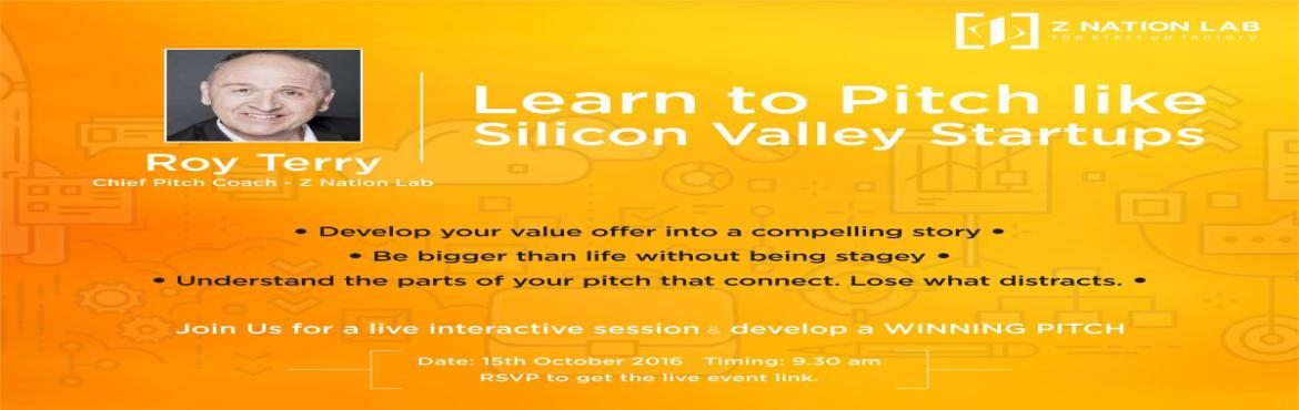 Learn to Pitch like Silicon Valley Startups