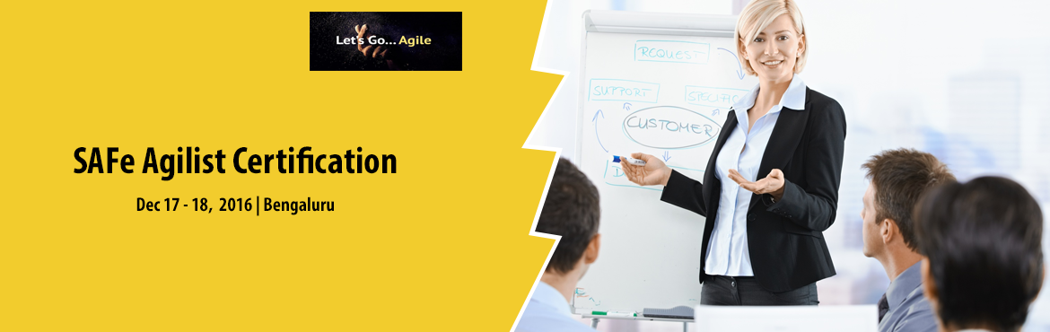 Book Online Tickets for Leading SAFe w/ SAFe Agilist (SA) Certif, Bengaluru.     This two-day course teaches the Lean-Agile principles and practices of the Scaled Agile Framework ® (SAFe ® ). You'll learn how to execute and release value through Agile Release Trains, how to build an Agile Portfolio, and how to l