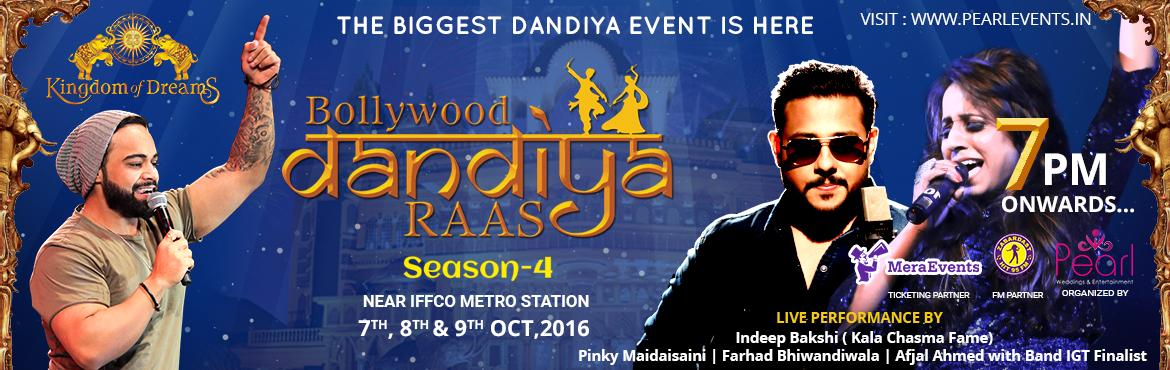 "Book Online Tickets for Bollywood Dandiya Raas 2016, Gurugram.  Tickets also availabe at kingdomofdreams.co.in and at kingdom of Dreams Box office   ""Bollywood Dandiya Raas 2016""season 4 the biggest navratri dandiya Raas event in Delhi/NCR is all set to take place at the Kingdom of dreams over t"