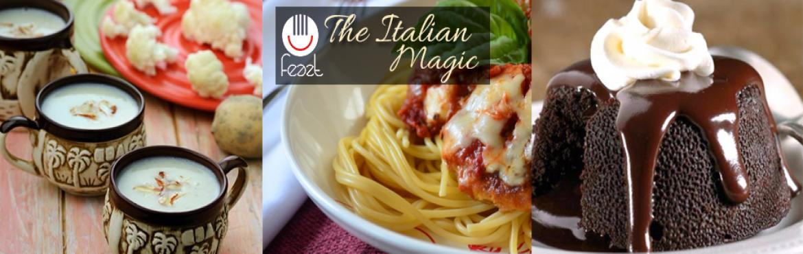 Book Online Tickets for The Italian Magic, Hyderabad. Feazt is a Social Dining platform which enables chefs & home chefs to hosts dinners at homes and other venues at their convenience. And enable Travellers , Networkers , foodies book these dinners to socialize over dining tables to explore authent