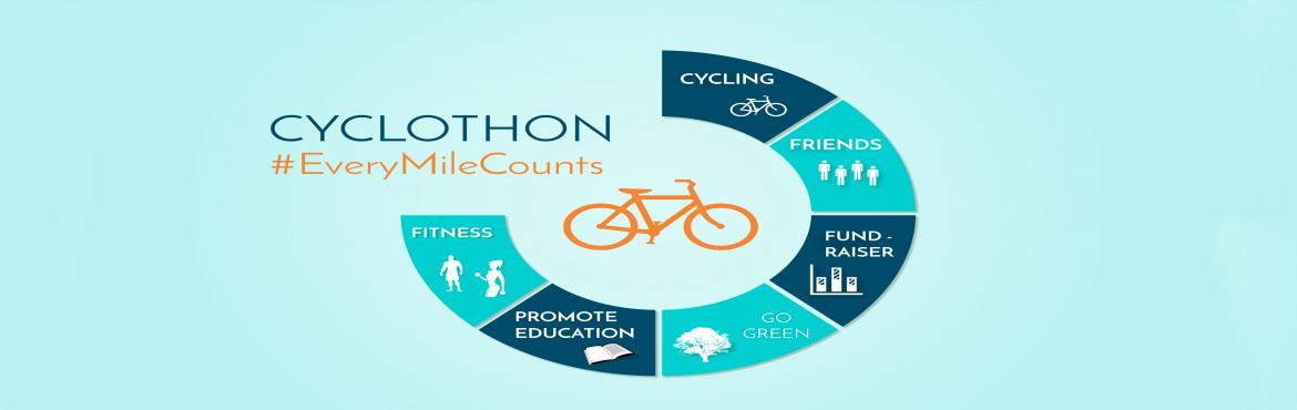 Book Online Tickets for Cyclothon- Every Mile Counts, NewDelhi. Cyclothon is a cycling event, that aims to highlight fitness, health, charity and fun at the same time.  This time we have a single motive and that is to extract as much fun from the sport of cycling.  We have