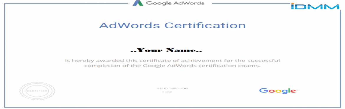 Get Google AdWords Certification in 2days