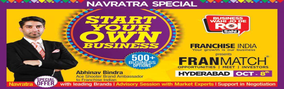 Book Online Tickets for MFM Navratra Special@ Hyderabad, Hyderabad. One of its kind concepts from Franchise India, MegaFranMatch (MFM) brings together the prospective franchisees and the franchisor on a single platform, based on their business requirements, location, investments, and most importantly, share the same