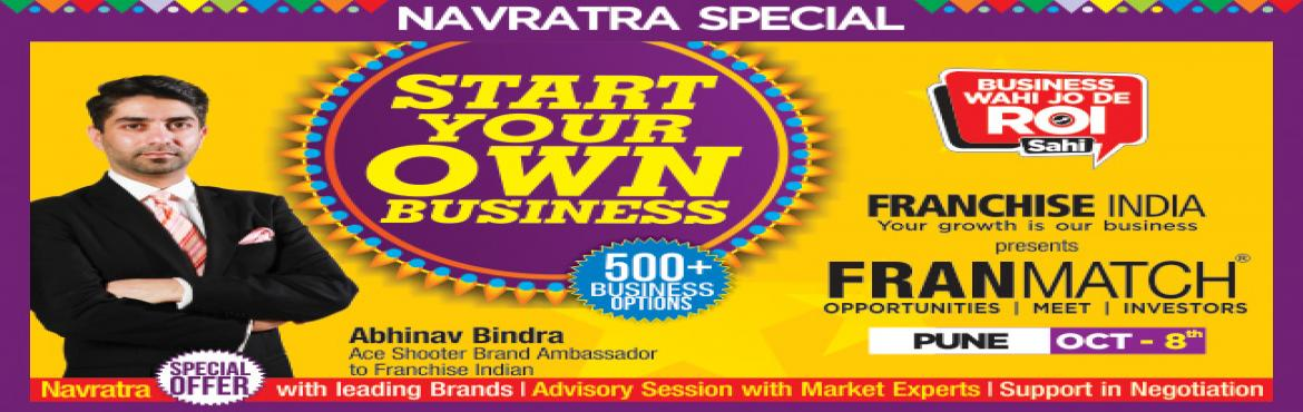 Book Online Tickets for MFM Navratra Special@ Pune, Pune. One of its kind concepts from Franchise India, MegaFranMatch (MFM) brings together the prospective franchisees and the franchisor on a single platform, based on their business requirements, location, investments, and most importantly, share the same