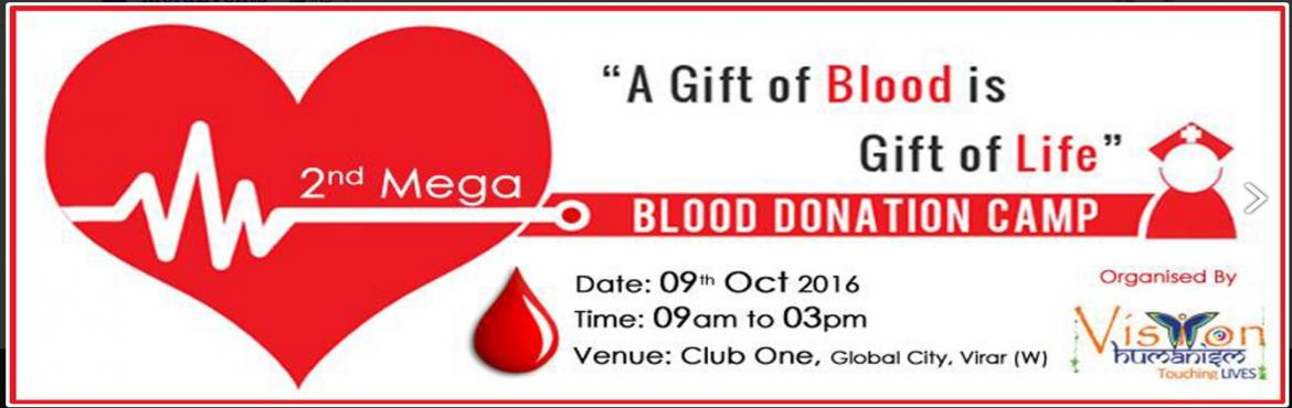 Second Mega Blood Donation Camp by Vision Humanism
