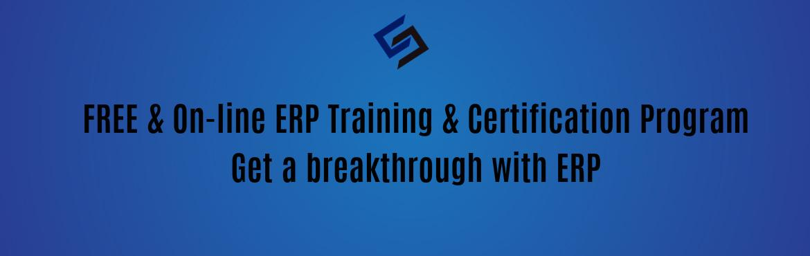 Book Online Tickets for FREE Global ERP Training and Certificati, Hyderabad. Syscon has a special initiative of providing FREE ERP on-line Training and certification towards skill development for Students, Freelancers and Professionals on the ERP software.   Why Syscon is doing this for FREE? We have 6  integrated a