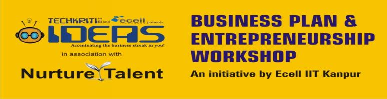 Book Online Tickets for IIT Kanpur Entrepreneurship workshop in , Warangal. IIT Kanpur Techkriti 2012 and Nurture Talent Academy have partnered for promoting entrepreneurship by training young entrepreneurs and students about entrepreneurship and business plan. Our efforts enable students learn and understand key steps towar