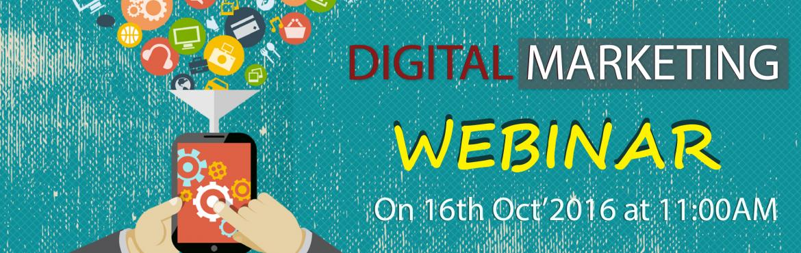 Book Online Tickets for Digital Marketing Webinar, Hyderabad. XoomTrainings is Conducting a seminar on Digital Marketing prospects. In here, our trainer will cover all the apsects related to the Digital Marketing and its future growth in the market.   Key Prospects:  Future scopeof digital Marketing Tradit