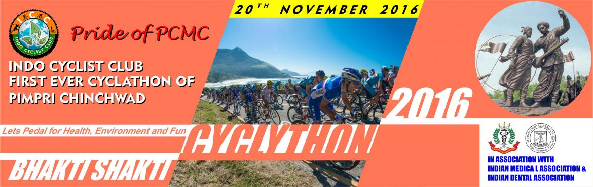 Book Online Tickets for Bhakti Shakti Cyclothon 2016, Pune.  Indo Cyclist Club (ICC) in association with Indian Medical Association  (IMA PCB) and Indian Dental Association (IDA PCB) is hosting Bhakti Shakti Cyclothon 2016- Pride of PCMC. Bhakti Shakti Cyclothon (BSCYCLOTHON) is Cycling Event is org