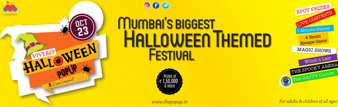 Book Online Tickets for VIVERO HALLOWEEN POPUP, Mumbai. Make way for the Spectacular Halloween Popup brought to you by Vivero International Preschool and Defin8 on Sunday, October the 23rd! It\'s a first of its kind themed festival this side of the town and aims to bring together families from various cul