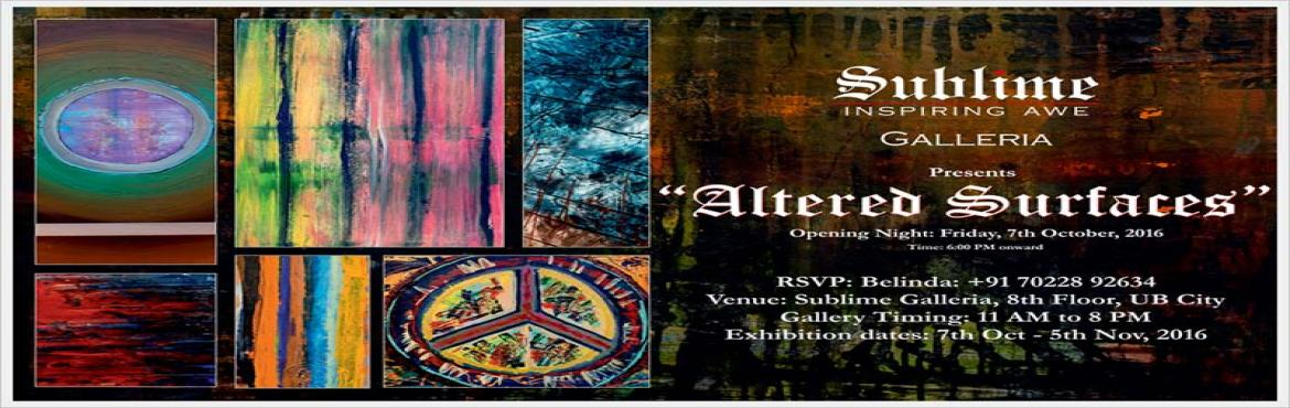 Book Online Tickets for Altered Surfaces, an Art Exhibit by Andr, Bengaluru. As an artist, Andrew thinks that emotions, reactions, and feelings are perhaps some of the most powerful ways of expression. He talks of a constant struggle and battle inside him as an artist, to create works of art that portray these myriad emotions