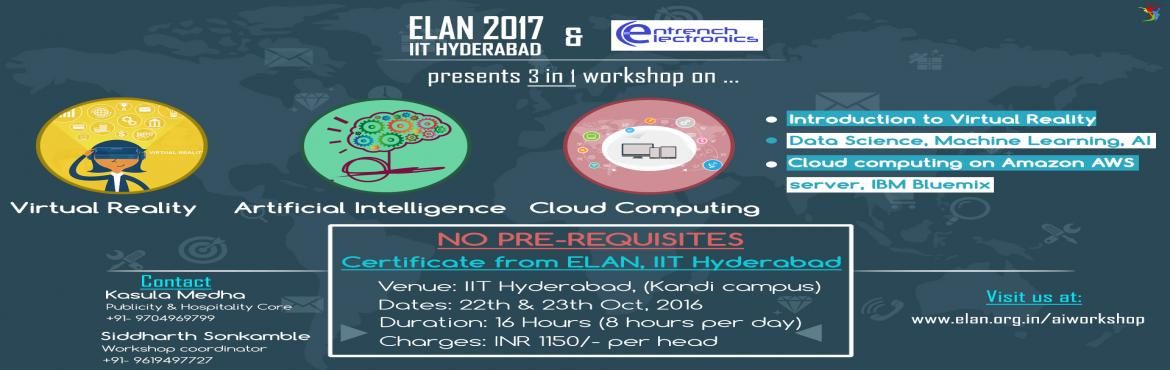 A Complete Package of Virtual Reality, Artificial Intelligence and Cloud Computing in 1 Workshop.