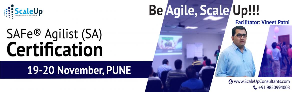 Book Online Tickets for SAFe Agilist Certification, Pune (Novemb, Pune. About SAFe Agilist Certification Workshop:   The SAFe® Agilist certification is especially designed for agile leaders, project, program and portfolio managers who work in a scaled agile set-up. The SAFe Agilist certification p