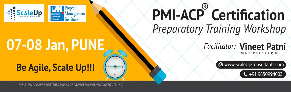 Book Online Tickets for  PMI Agile Certified Practitioner (PMI-A, Pune. About PMI-ACP Agile Training:  PMI-ACP® certification is a flagship Agile certification from the Project Management Institute (PMI). The PMI-ACP® recognizes knowledge of agile principles, practices and tools and techniques across ag