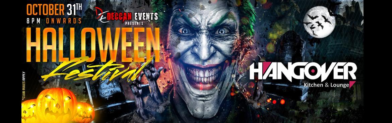 Book Online Tickets for Halloween Hangover, Hyderabad.  Deccan Events Porudly Presents       Halloween Hangover       Feat.   DJ Naik   Sandeep Naik Sandy (DJ Sandy)      Inhouse   DjSrik Sunny      Venue: Hangover- Kitchen and Lounge   Date: October 31st (Monday)   Time: 8:00 PM