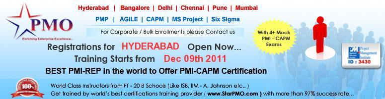 Book Online Tickets for Certified Associate in Project Managemen, Hyderabad. CAPM Certification Workshop in Hyderabad