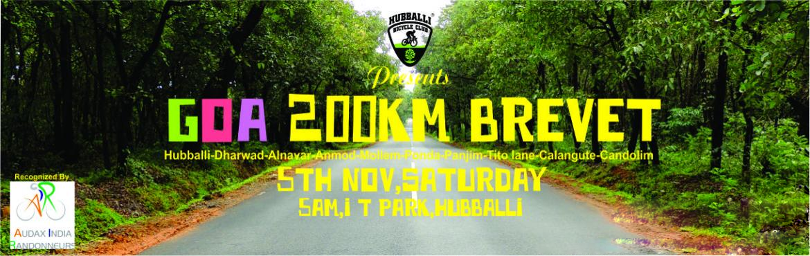 Book Online Tickets for Goa Brevet 200KM, Hubballi. We are organizing the first ever 200KM Hubli to Goa Brevet event of North Karnataka which has to be completed mandatorily in 13 Hours 30 Minutes. The route is the most scenic you can cycle through with an incentive like Goa waiting at the destination