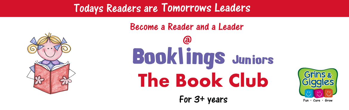 Book Online Tickets for Booklings @ Grins and Giggles, 22nd Nov , Bengaluru. Every Tuesday: 5 to 6:30 pm Cost: Rs.750 per month Age Group : 6 to 10 Years   Booklings is more than a book club, it is a creative space for children above 6 years. Reading expands the minds, enriches the mind and spirit. Kids will be introduce