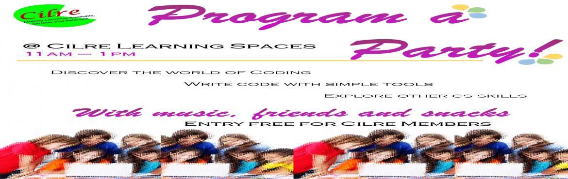 Book Online Tickets for Programming Club @ CLS, Bengaluru. Programmming Club is a one of a kind programming event for children. It is a two day event, where children can drop in and out at any time. Each child will be given programming tasks, one at a time. As they complete each task they will move on to fur