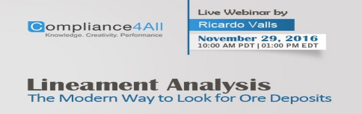 The Modern Way to Look for Ore Deposits webinar by Compliance4all
