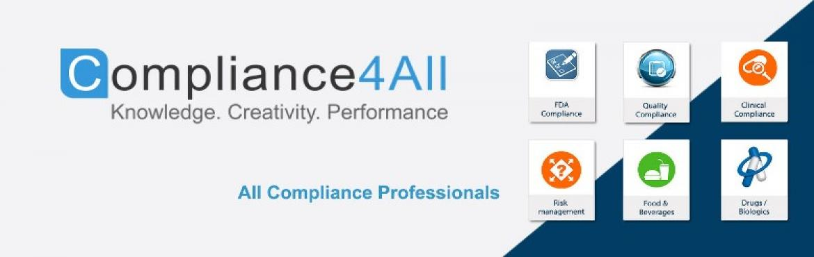 Quality and Compliance for Medical Devices webinar by Compliance4all