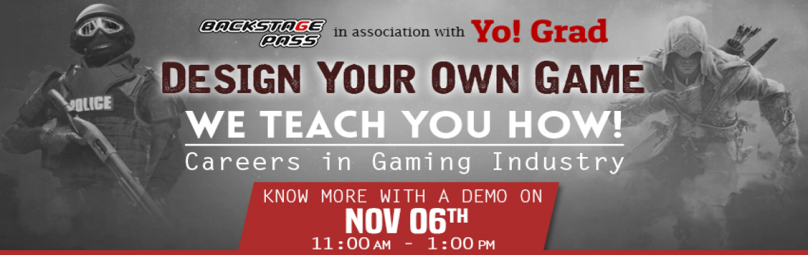 Book Online Tickets for Careers in Gaming Industry, Hyderabad. Why should you participate in the workshop? Top notch companies like Nintendo, Sony, Microsoft studios and EA sports are always on a look out for the talent that will take their gamification to the next level.  Today, there are approximately 12