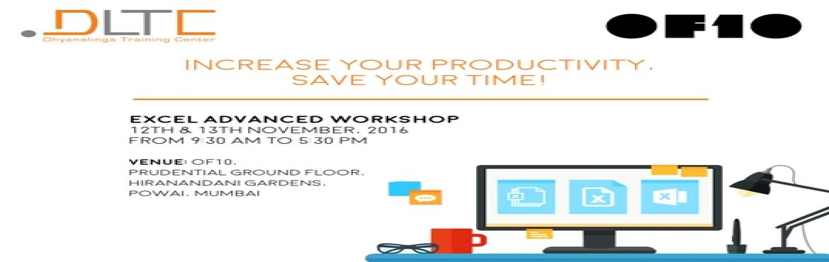 Book Online Tickets for Excel Advanced Workshop, Mumbai. Why should I learn Excel in-depth? Key Takeaways? Efficiently handle large amounts of data & Perform complex calculations with ease. Dive into data and get really useful analysis. Take decisions, based on data and not assumptions. Create standard