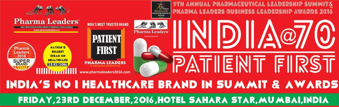 Book Online Tickets for Pharma Leaders 2016 , Mumbai. Pharma Leaders Power Brand Awards (PLPBA®) is a top-ranked, global healthcare Awards meant to motivate & recognize the shining stars of the Indian pharma & healthcare industry developed by Network 7 Research's team & its team of