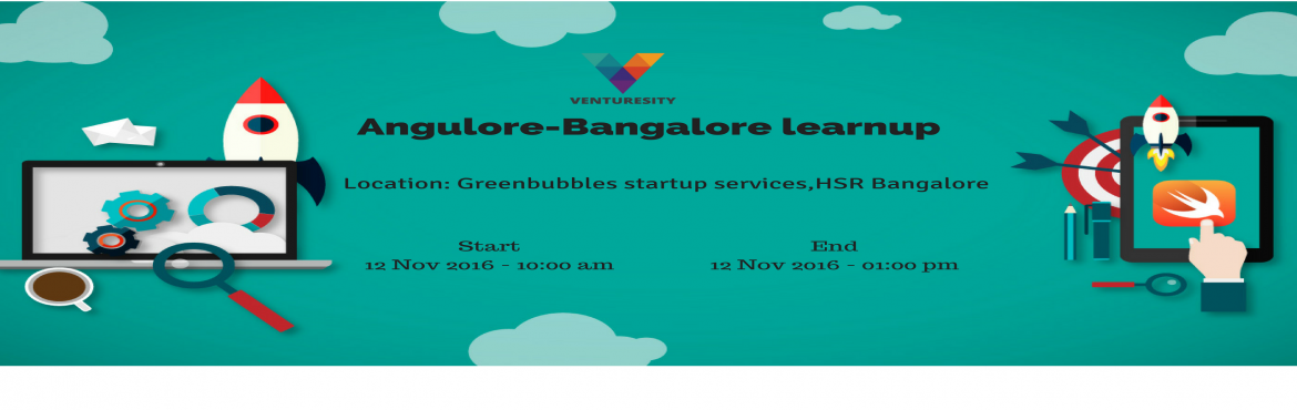 Book Online Tickets for Angulore, Bengaluru. Venturesity's Angulore is a learn-up that will give you an insight of the complete angular structure and patterns that it will deal with and also will give a real time project training which has all the latest patterns that the design patterns