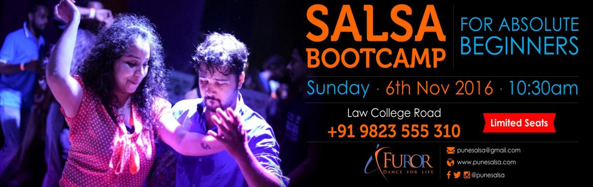 Book Online Tickets for SALSA Bootcamp BY FUROR_6th Nov 2016 LAW, Pune. It is THE MOST fun packed, fast and effecient way to start dancing salsa .....   ----------------------------------------------------- Every two months FUROR pune  dedicates an hour (or more :p)  to getting your feet grooving to the rh