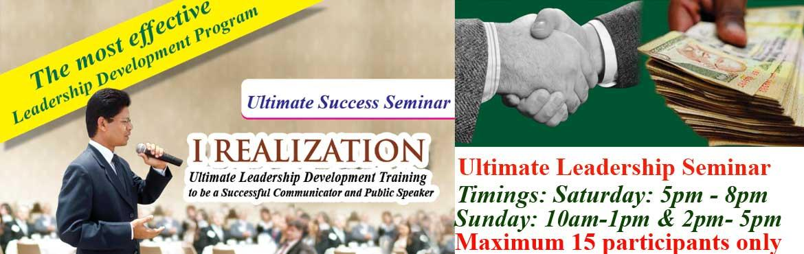 Book Online Tickets for I Realization- Leadership Training durin, Hyderabad. I Realization- Leadership Training to be a Confident Communicator and Successful Public Speaker to lead self and others in right direction during weekend Saturday 5pm -8 pm, Sunday 10am- 1pm and 2pm- 5pm.   I welcome you to explore self to