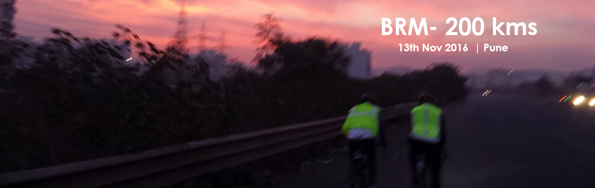 Book Online Tickets for Pune BRM - 200 kms - 13th Nov 2016 , Pune. Start Time: 06:00 am   Starting PointPune University   Distance - Time 200 Km – 13.5 Hrs   For further details click the link given below: http://www.audaxindia.org/pune-randonneurs-pune-maharashtra-c-7