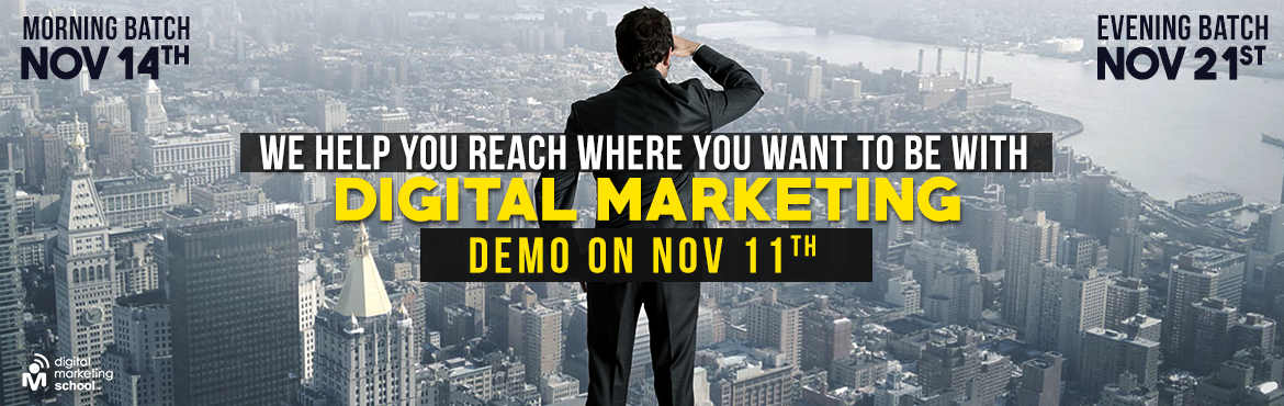 Book Online Tickets for Free Digital Marketing Session , Hyderabad. Demo on Digital Marketing   \