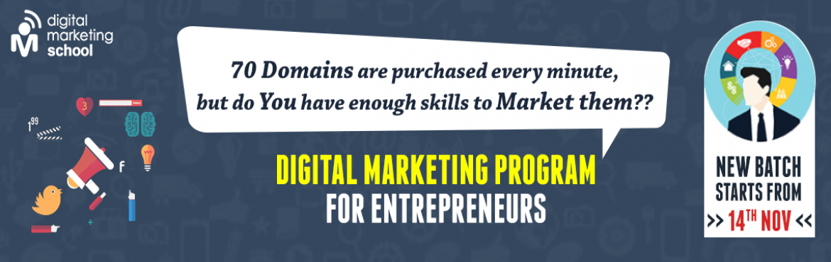 Book Online Tickets for Advanced Digital Marketing Training  , Hyderabad. BECOME A CERTIFIED DIGITAL MARKETING PROFESSIONAL    Executive Program In Digital Marketing  EPDM course is taught by real-world experts and covers a range of critical topics, helping you to expand your expertise and get on the fast tr
