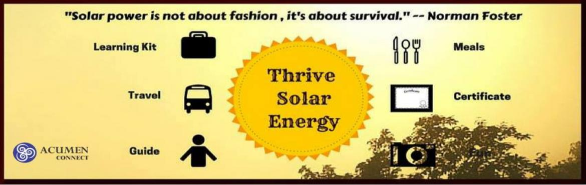 Industrial Visit To Thrive Solar Energy