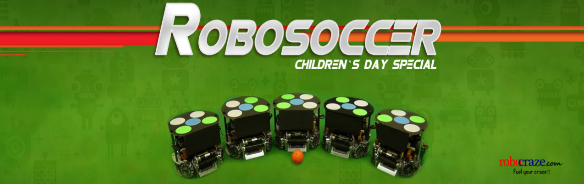 Book Online Tickets for RoboSoccer [Childrens Day Special), Hyderabad. Robotics is the future! In this workshop, the kids will learn how to make a Remote Controlled RoboSoccer Car. It is best suited for children who have an inclination towards Electronics and building Robots. Topics: Fundamental of Robotics, Two-wheeled