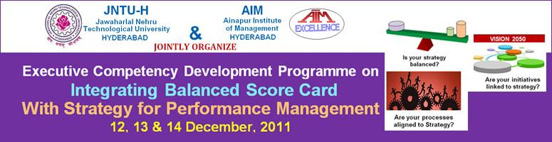Executive Competency Development Programme on BALANCED SCORE CARD with Strategy for Performance Management