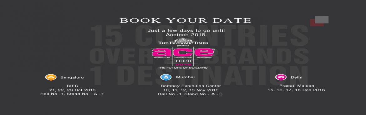 Book Online Tickets for The Economic Times ACETECH Mumbai 2016, Mumbai. S. T. Unicom, a name & company synomous today in India with International brands of Furniture, Décor & Lifestyle presents a curated collection at the ACETECH 2016.   The Economic Times Acetech, is the largest exhibition in Asia he