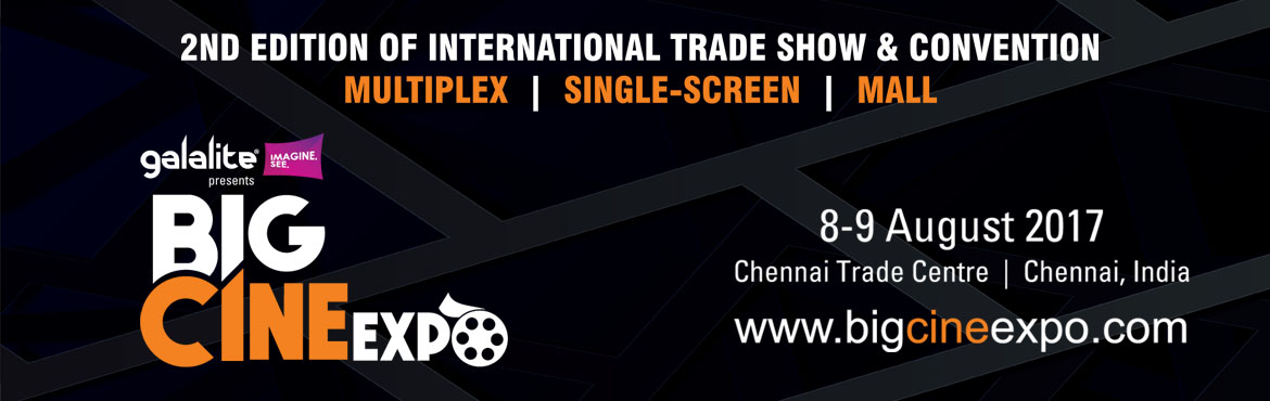 "Book Online Tickets for BIG CINE EXPO 2017, Chennai. If one were to describe the grand opening of Big Cine Expo in one word, it would be ""Houseful!"" With the who\'s who of cinema exhibition coming together on a single interactive platform, Big Cine Expo at Chennai Trade Centre, Chennai beca"