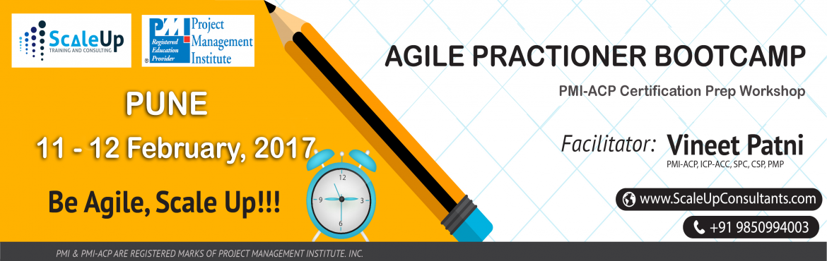 PMI Agile Certified Practitioner (PMI-ACP) Certification Training, Pune - February 2017