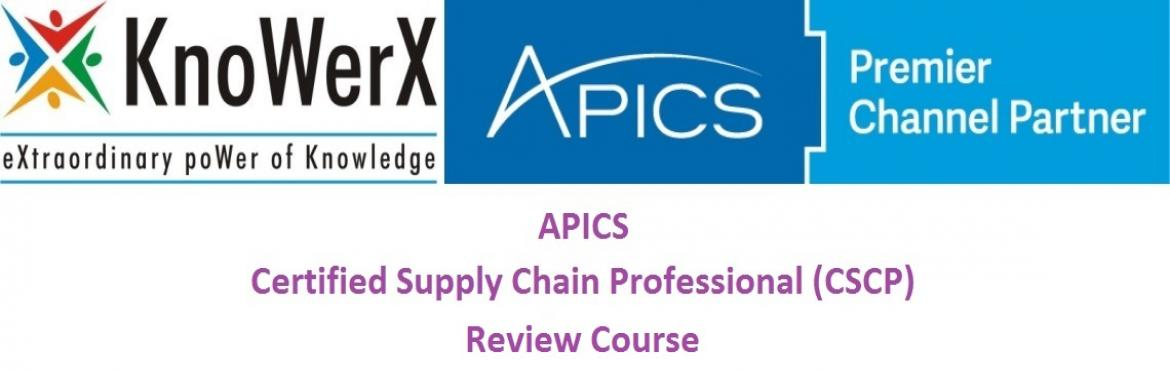 Book Online Tickets for APICS CSCP Review Course, 17-21 January , Bengaluru. About The Event  APICS CSCP education is essential if you are  Interested in increasing your knowledge and expertise in the field of global supply chain management, specifically in the areas of customer relations, international trade, information tec