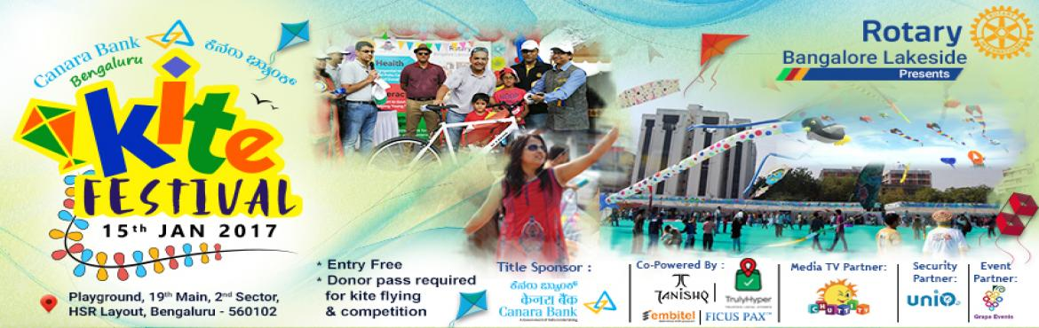 Book Online Tickets for Canara Bank Bengaluru Kite Festival - 20, Bengaluru. Canara Bank Bengaluru Kite Festival 2017 is a family event full of fun, food, live music, Special Kite Show and joy of kite flying! After the success of last year, this event will be bigger and better. This event is evening organised by Rot