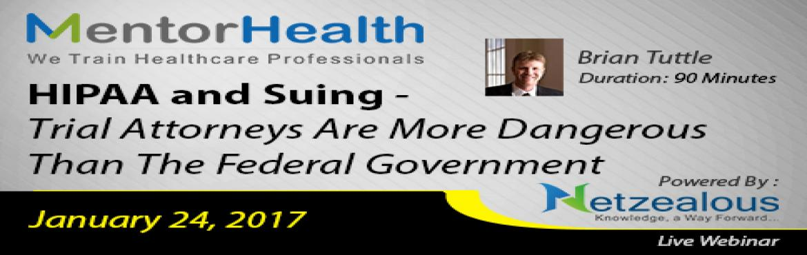 Book Online Tickets for HIPAA and Suing - Trial Attorneys Are Mo, Fresno. Overview: This lesson will be going into great detail regarding you practice or business information technology and how it relates to the HIPAA Security Rule, in particular portable devices. Areas covered will be texting, email, encryption, medical m
