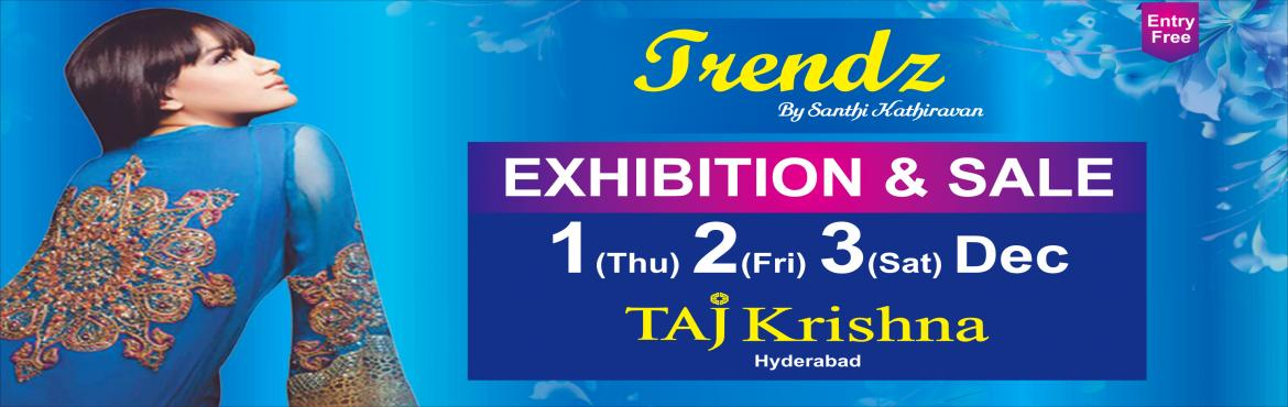 Book Online Tickets for TRENDZ by Santhi Kathiravan, Hyderabad. Are you ready for the most awaited fashion event of the year? The popular and grand T R E N D Z by Santhi Kathiravan showcases premium designs / collections from 120+ reputed designers across the country at TAJ Krishna on 1st, 2nd & 3rd Dec. Shop
