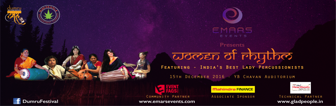 Book Online Tickets for WOMEN of RHYTHM, Mumbai. Empowered Women are those who break the usual and set their own rules. Rhythm has been a male dominated industry for hundreds of years. Women of Rhythm is a concert series by Women who Empowered themselves by choosing Percussion over other instrument