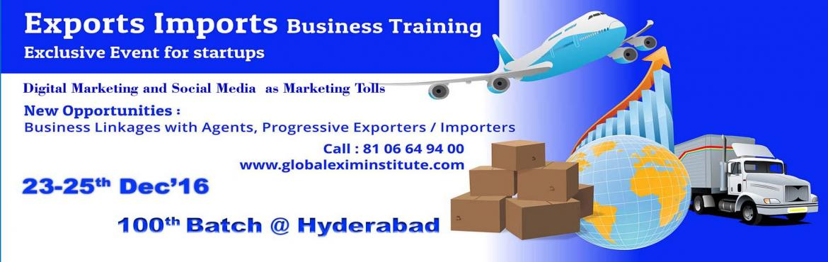 Book Online Tickets for EXPORT-IMPORT Training with Digital Mark, Hyderabad. This Export Import Business training is aimed at Small and Medium companies who aspire to take their business to International markets. The workshop is conceived to help CEO /owner-managers / Senior executives of Indian companies who wish to develop