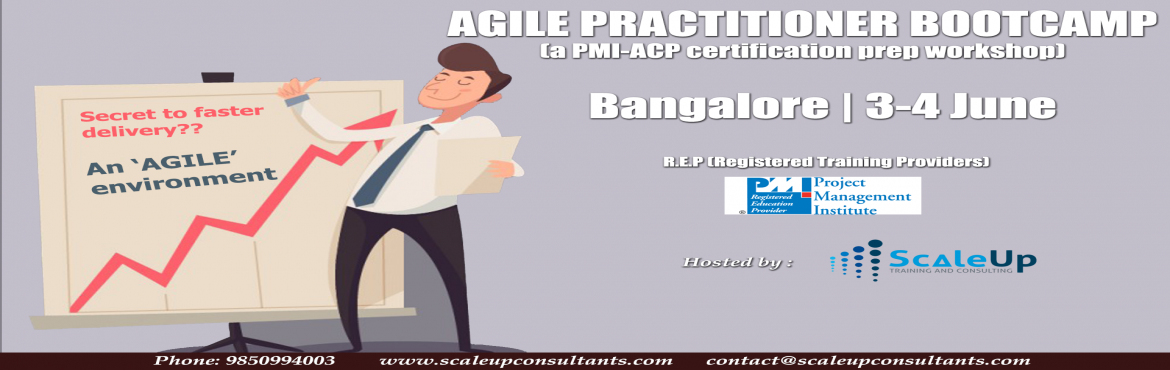 Learn from and get certified by practicing Agile and Scrum experts.  PMI-ACP (Agile Practitiner) Certification | BY: ScaleUp Consultants