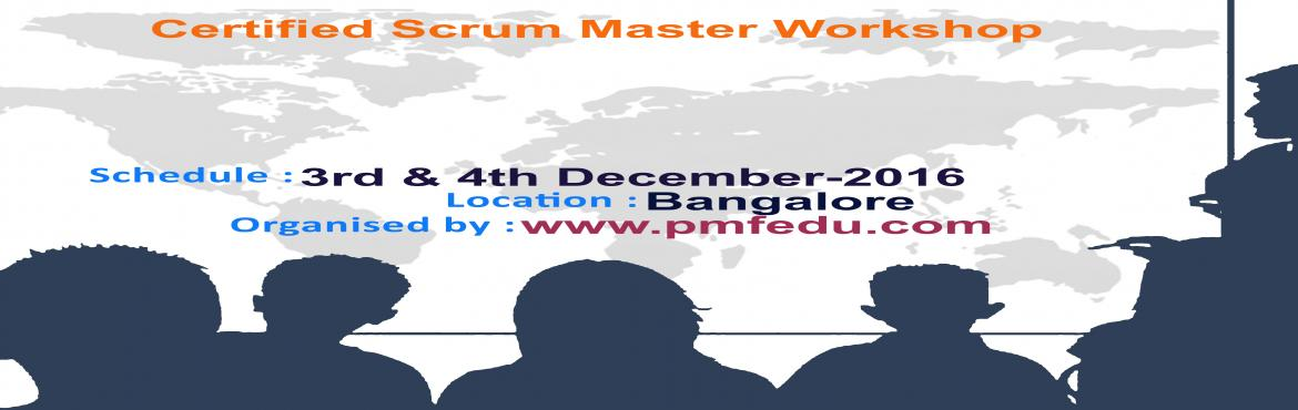 Book Online Tickets for Certified Scrum Master(CSM) by PMF Edu, , Bengaluru. About The Event: The ScrumMaster has a key role in Scrum. The role is different to that of a project manager, for example, the ScrumMaster has no responsibility for planning and controlling projects. Instead, the ScrumMaster supports and encourages t